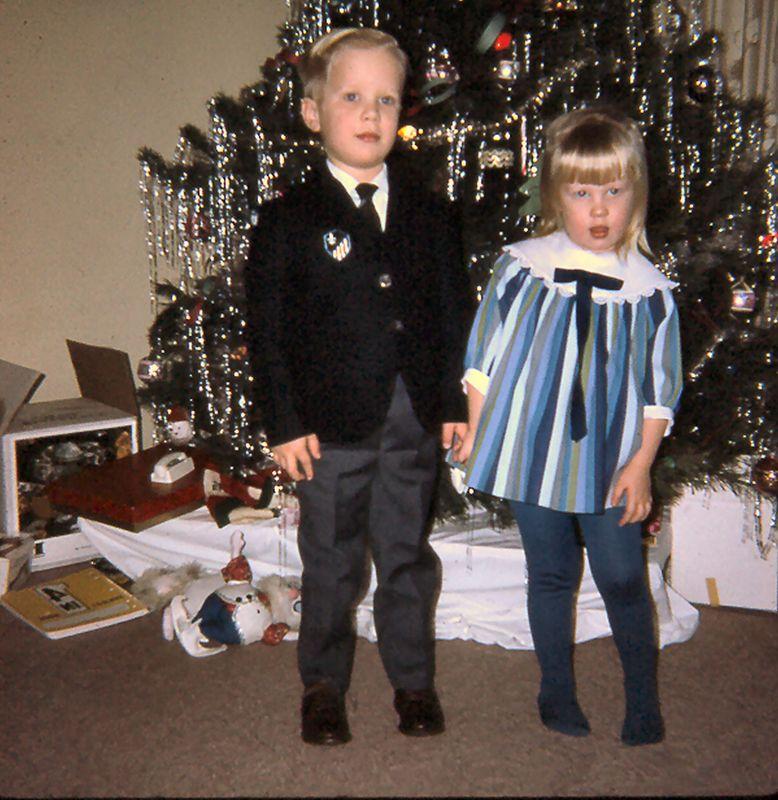 Scott & Susie, Christmas, 1968