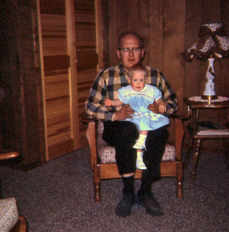 Dad holding Susie, 1965