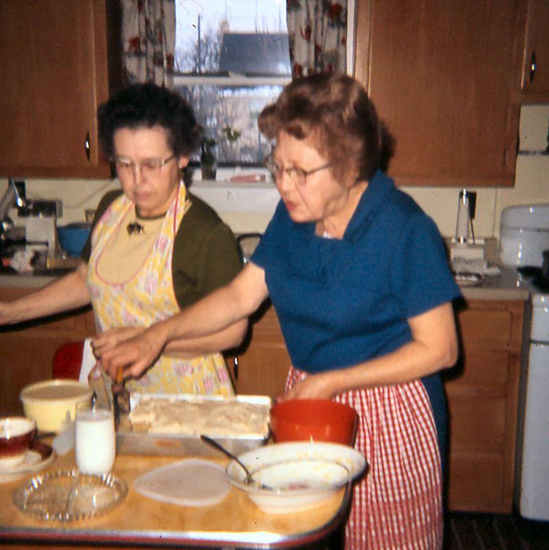 Aunt Mona and Grandma Hellam