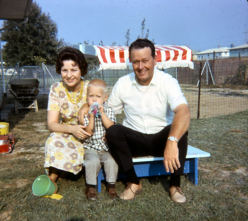 Scott with Uncle Herb & Aunt Sally, 1966