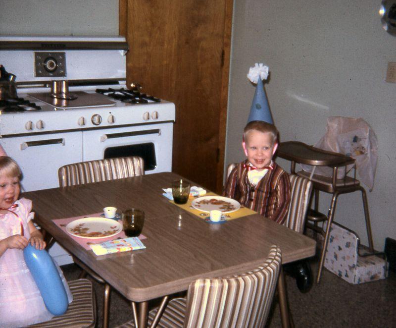 Susie's second birthday, January, 1967