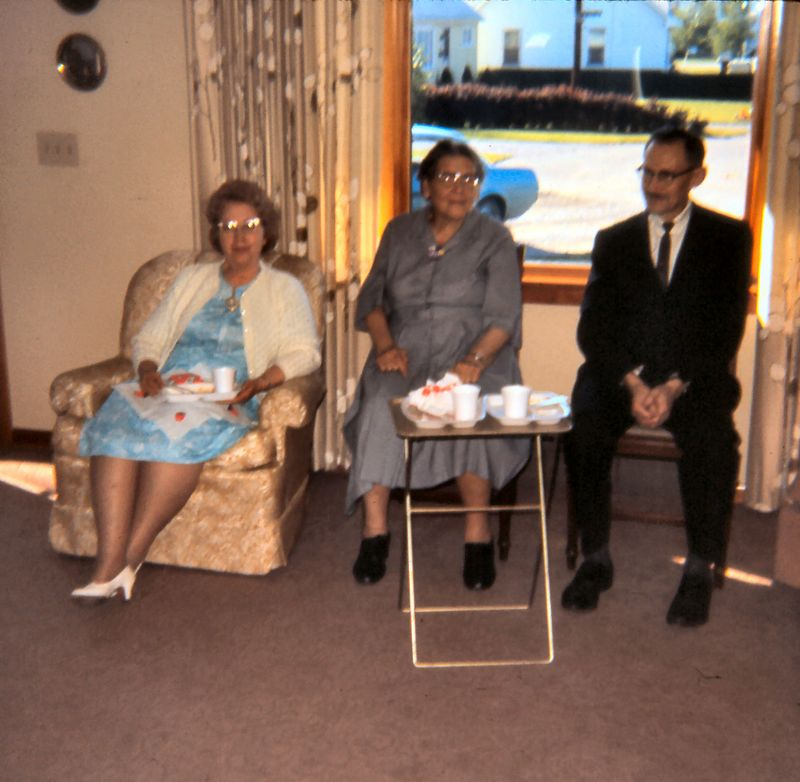 Mabel Lineburger with Mr. & Mrs. Zimmerman
