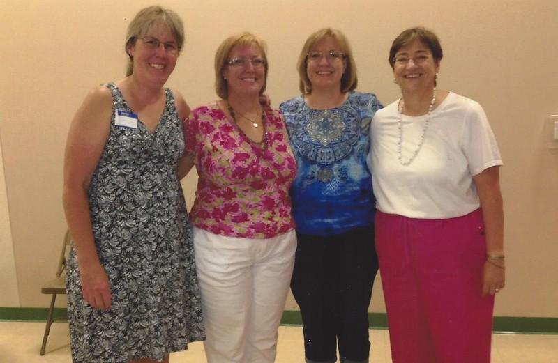 Reunion 2013 - Mary Guenzel, Susan Guenzel, Beth Park, Anne Guenzel