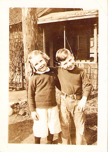 "Don Askew with cousin Mary ""Theresa"" Beattie March 1937"
