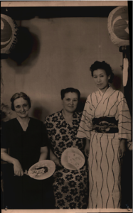 Sister Taylor, Hope Askew, Keiko Tanabe  - 16 July 1952