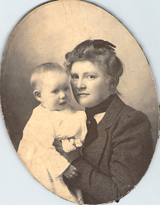 Hattie Askew with baby Manfred