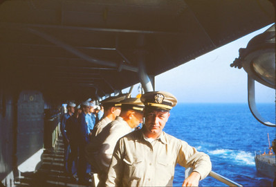 Ensign Aspenson at sea