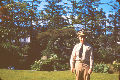 In front of Officers Club at US Naval Base. Yokosuka Japan