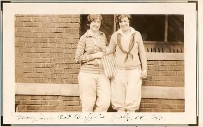 This is Mary Small and Bertha July 4th 1926 in Stoughton, WI