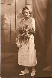 Bertha bridesmaid at Edna and Walter's wedding
