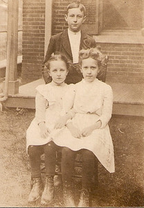 The back of this photo says Oct. 1904  ages: 11, 9, and 6 taken at 828 S. 11th