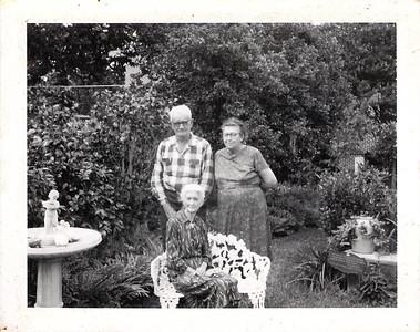 Joseph and Felvia Edwards with Eva Caves Edwards 1966 or 67