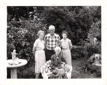 Grandpa Joseph Edwards with mom and sisters 1966-67