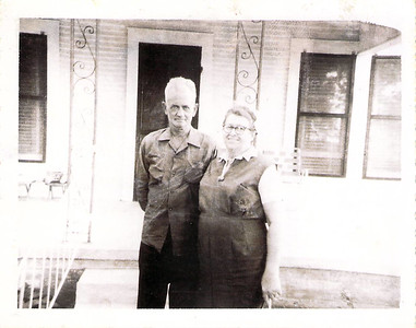 Joseph Dixon and Felvia (Adair) Edwards,  Christmas 1962