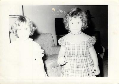 Ruth Elaine Edwards, 2 yrs, with Juanita Mouton