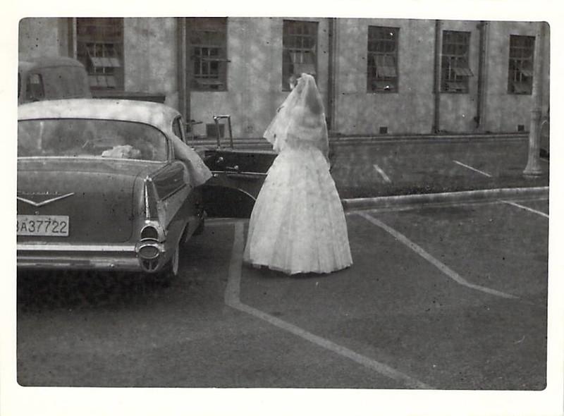 Wayne and Ruth (Askew) Edwards Wedding 5 July 1958
