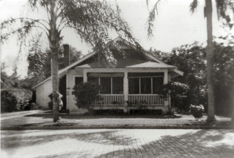 Grandpa Logan's first house he built in St. Petersburg, Florida, 1920's.