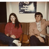 Teri Hoffman and Paul McGuiness<br /> Riding BART in San Francisco in Spring 1975