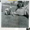 Douglas and Betty Hoffman. Taken May 13, 1956 in Parma, Idaho. Doug is 2 years old.