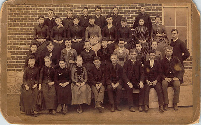 Belle and Cad Johns class photo - no date