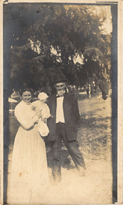 Emanuel Johns with his second wife, Minerva (Post Card Front)