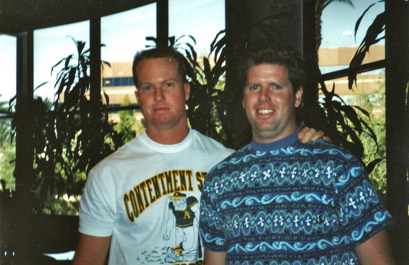 Mark McGuire and Brian in Arizona around 1991