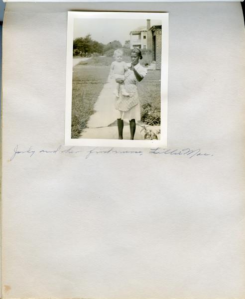 Judy and her first nurse, Lilla Mae