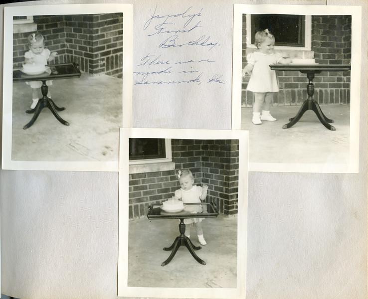 Judy's First Birthday