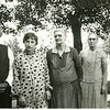 Uncle Will Heulette, Hazel Davis, Aunt Susan and Aunt Hester Heulette. The dress Hazel is wearing in this photo is hanging in a closet in Mom's house.