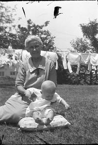Claude (Mike) Carmichael Jr. with Grandmother Elizabeth Francis Vogt