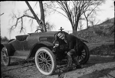 Claude Carmichael With His Cool Car