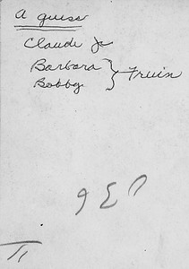 Written on the back of the following picture by Ethel Carmichael or Jane Houlton-Carmichael (not sure which)