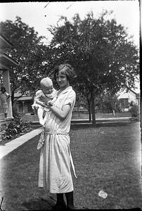Ethel Carmichael holding Mike