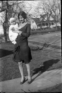 Ethel Carmichael holding Claude Jr (Mike)