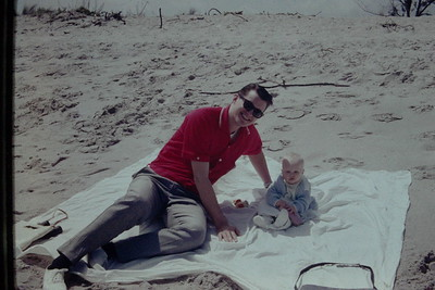 Dad and Laurie on the beach in Florida