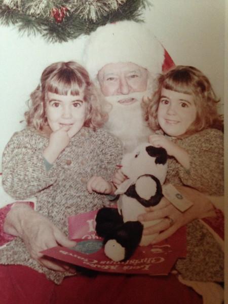 A visit with Santa  1960?