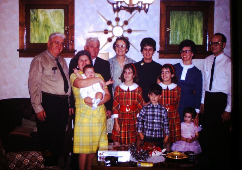 1968 Family Christmas photo