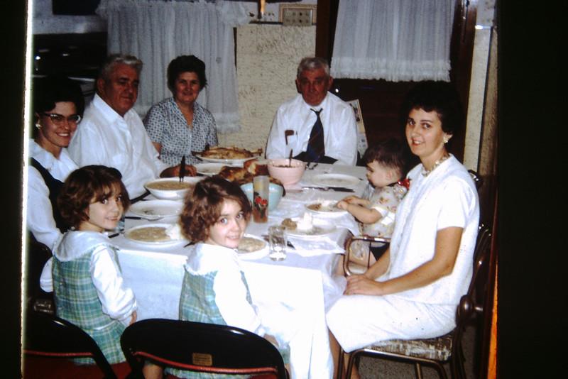 1964 Christmas Dinner at Grandma and Grandpa's.