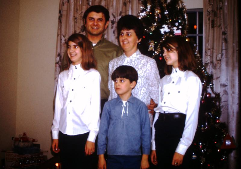1970 Christmas Family Photo