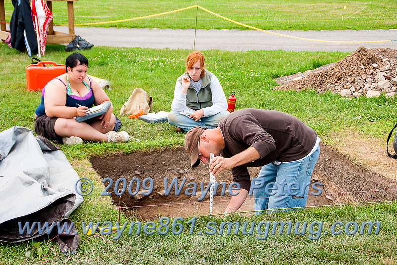 Archaeological Dig at Old Fort Niagara, July 1, 2009.