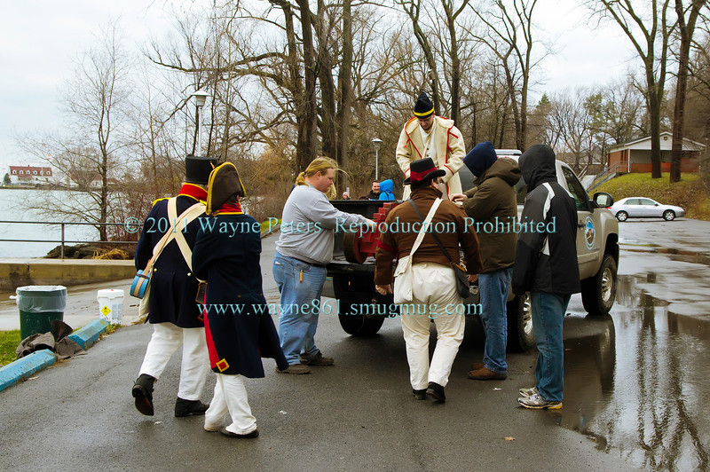 Lieutenant Governor's New Year's Day Levee 2012 and Old Fort Niagara's response to cannon fire from Fort George