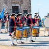 The Plymouth Fife & Drum Corps, from Plymouth, Michigan, gives a concert at Old Fort Niagara, July 23, 2016.