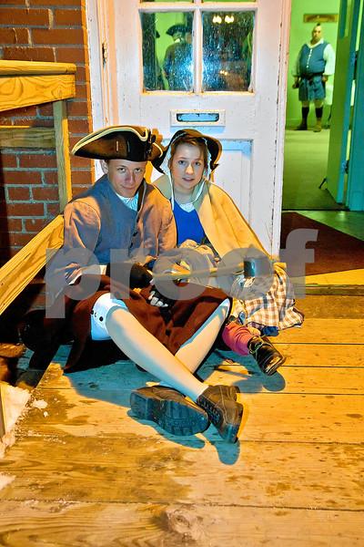 Beggars at the door, Tavern Night 2010 at Old Fort Niagara.