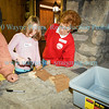Making a cartridge box at Winter Camp, Old Fort Niagara