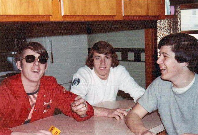 Dick Arpin, Gary Gagnon & Scott Ozana, circa 1973.
