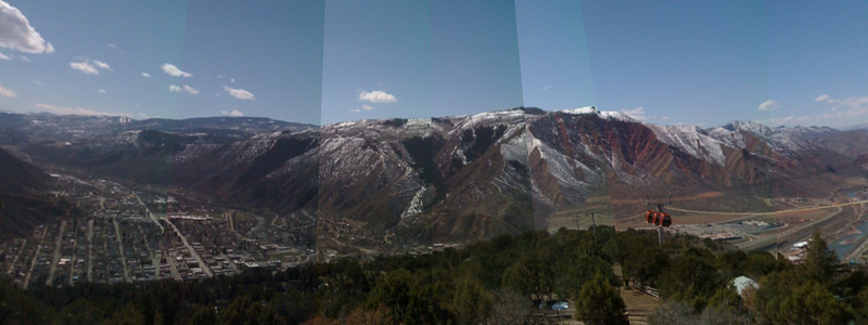 An attempt at stitching a panorama on the iPhone