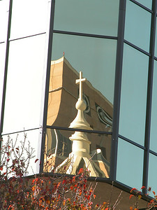 01-A4B361 [e] Church Reflection by Fred Schwilk