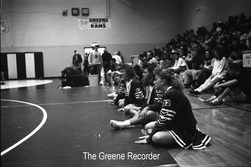 1991 Wrestling Greene Invit Cheerleaders Jan 30 793