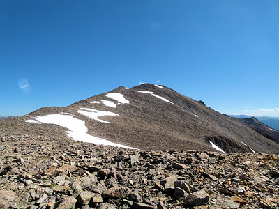 Final slope to La Plata summit