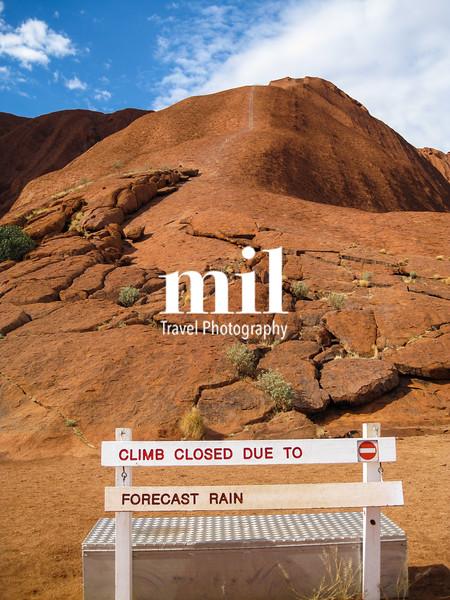 Ayers Rock Uluru in Australia - climb closed